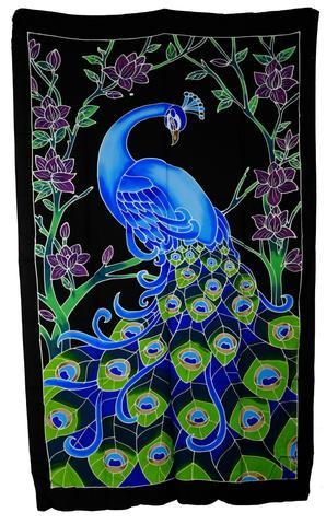 Hand Batiked Peacock Sarongs