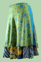 Reversible Silk Umbrella Wrap Skirt