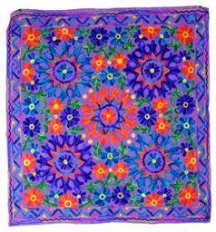 Hand Embroidered Wall Hangings 4 Colors