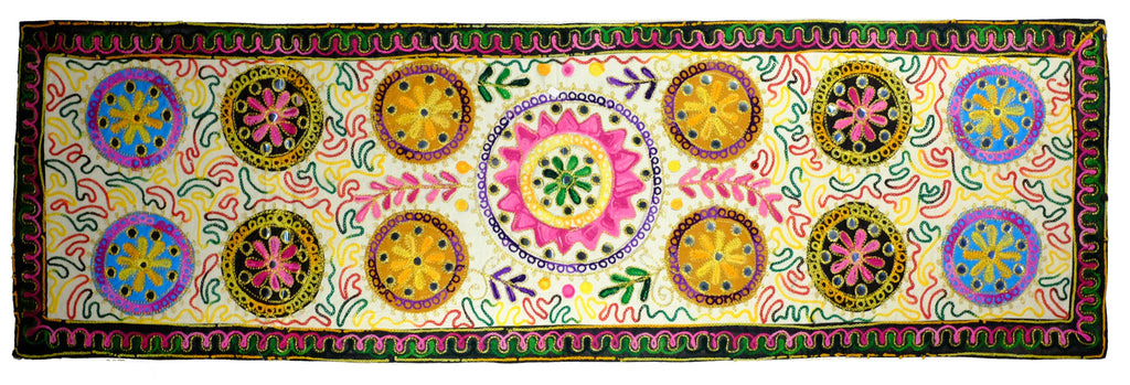 Long Embroidered Wall Hanging