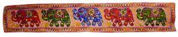 Long Embroidered Wall Hanging w elephants