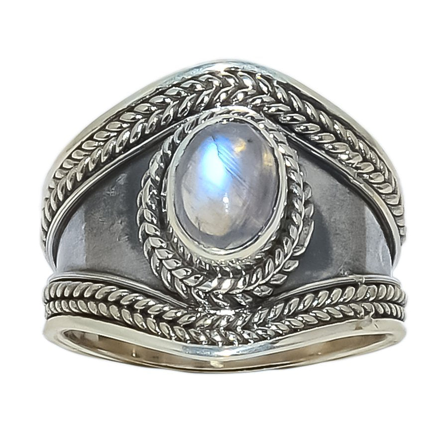 Sterling Silver Ring Double Twisted Setting - Available in 8 Stones