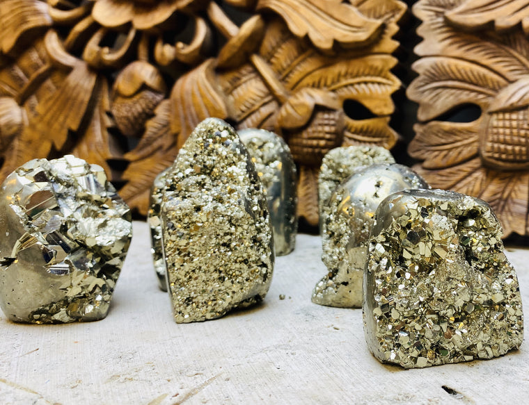 Pyrite Druzy Mountains from Peru - 3 sizes availabale