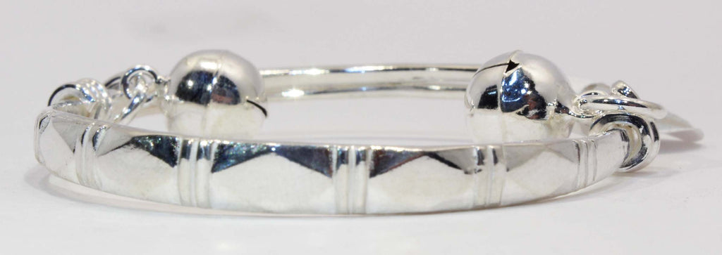Sterling Silver Baby or Toddler Bell Bangle Bracelet