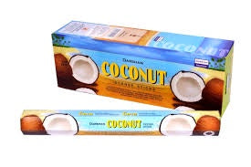Darshan Coconut incense 20 stick Hex Pack