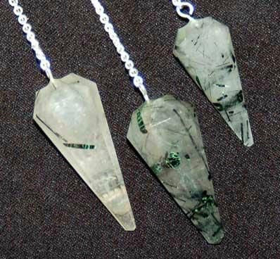 Gemstone Crystal Pendulums - Available in 17 Stones