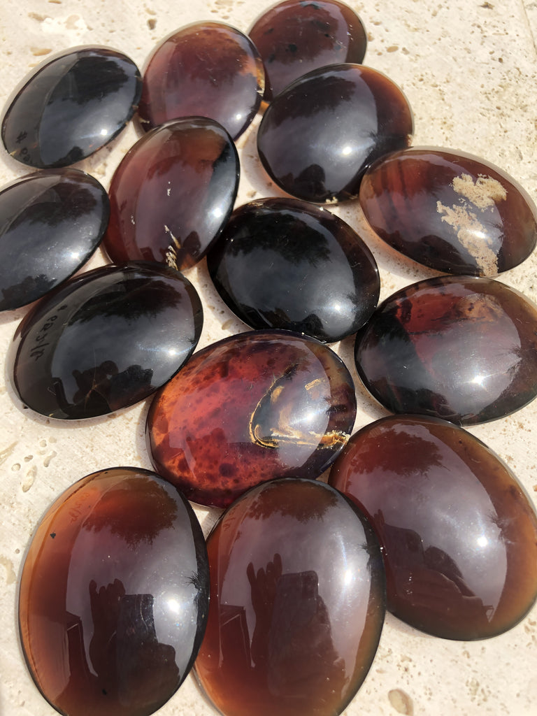Blue Amber Palmstone/ Pillows from Sumantra, Indonesia