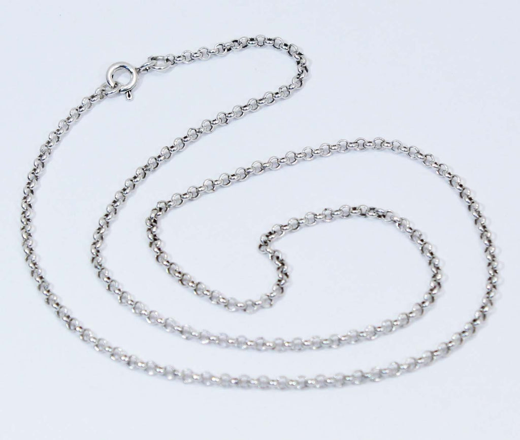 Sterling Silver Rolo Chain 2.1 mm