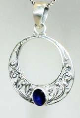 Sterling Silver Jawan Pendant from Bali - Available in 8 Stones