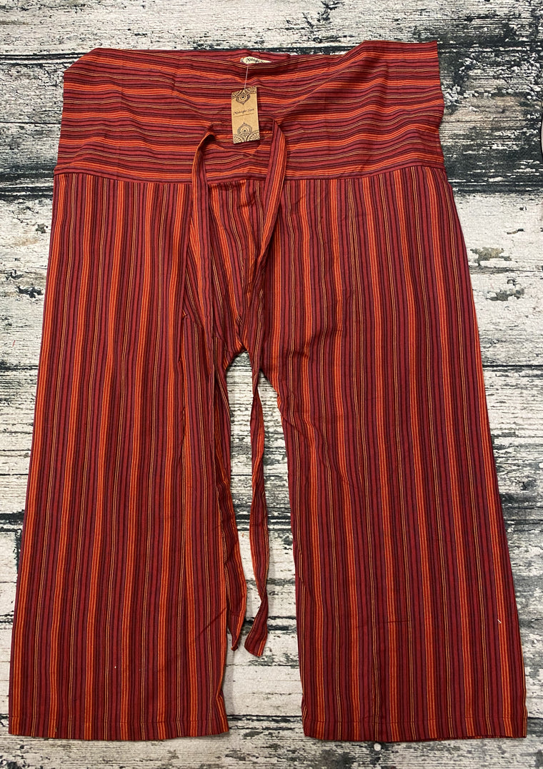 Unisex 100% Cotton Hand Woven Thai Fisherman Pants
