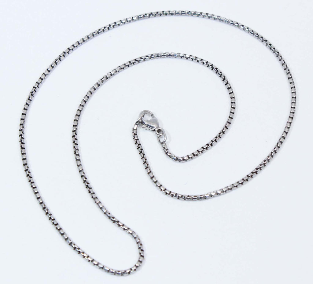 Sterling Silver Oxidized Box Chain
