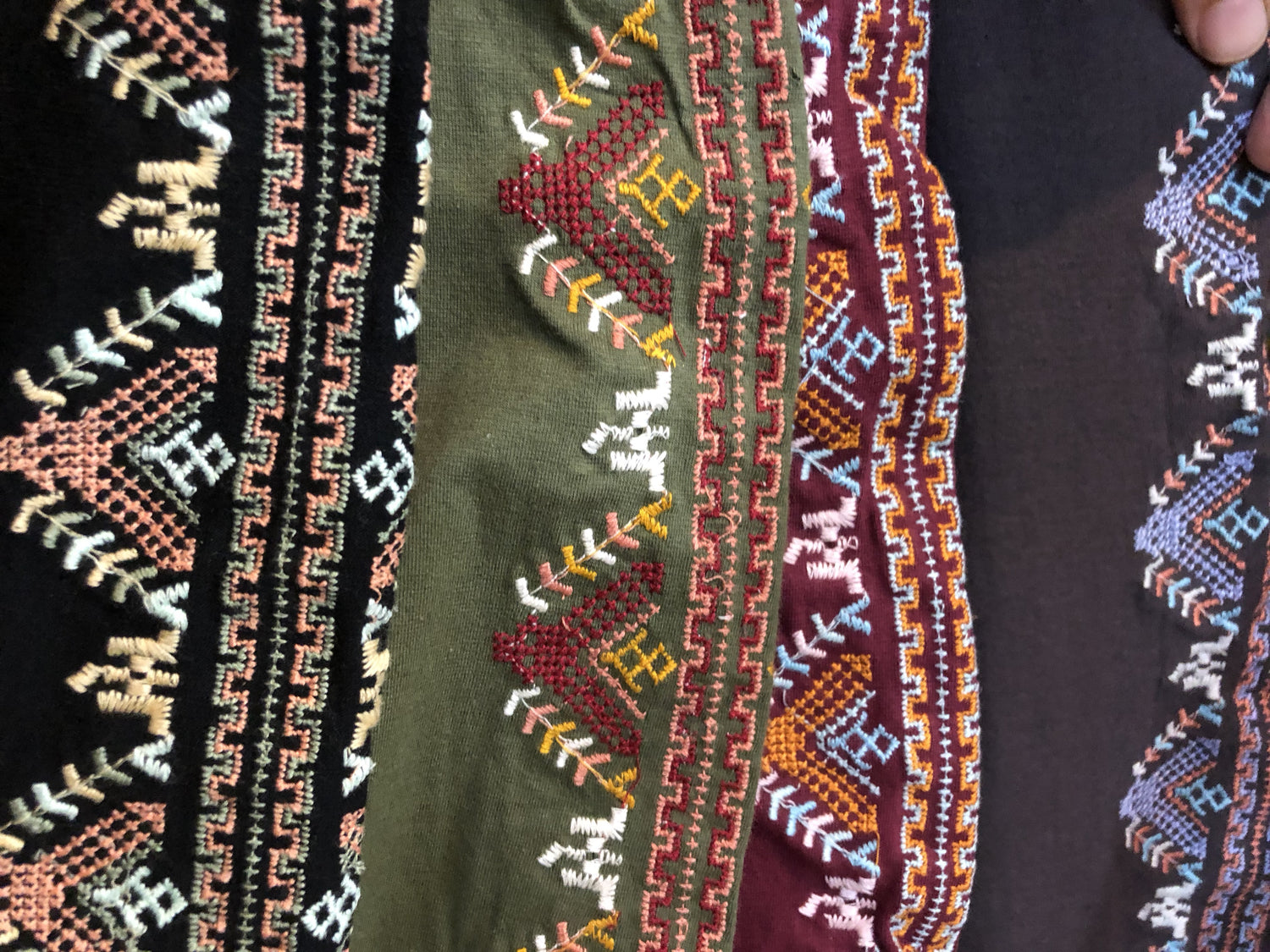 Gorgeous Geometric Embroidered Leggings