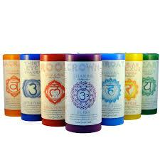 Herbal Magic Reiki Charged Chakra Pillar Candles