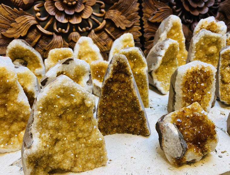 Citrine Druzy Cathedrals from Brazil