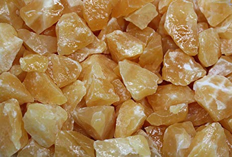 Orange Calcite Raw Chunks
