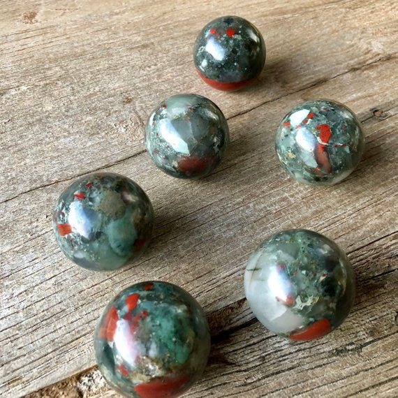 Bloodstone Spheres 40mm