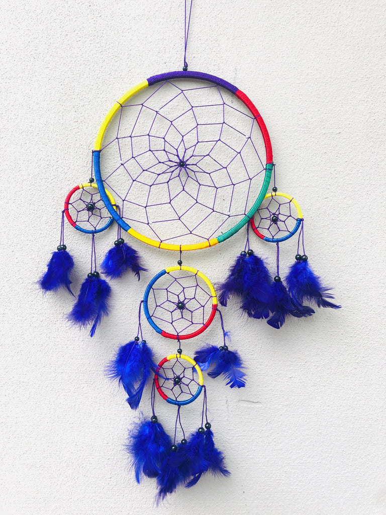 Rainbow Dream Catchers with 4 Babies - 2 Sizes Available