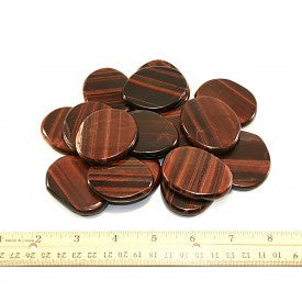 Red Tigers eye Coins 25x20x6mm