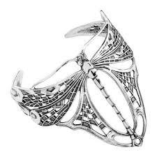 Beautiful Sterling Silver Victorian Dragonfly Cuff Bracelet