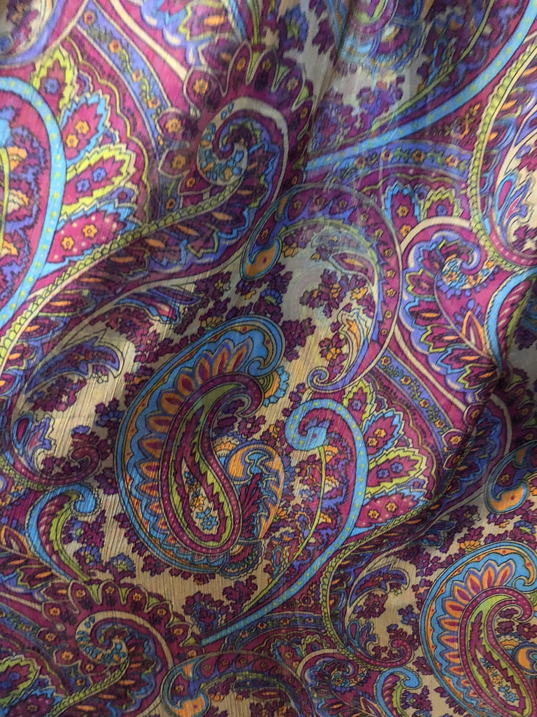 Paisley Chiffon Curtain Panels