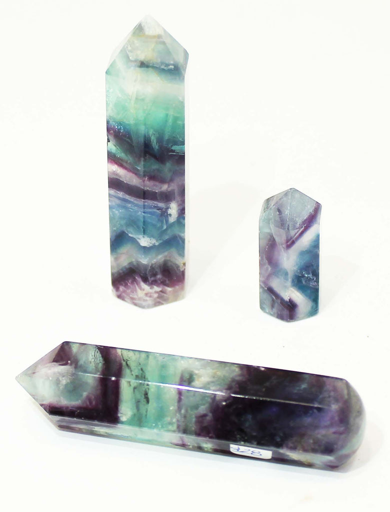 Beautiful Rainbow Flourite Massage Points