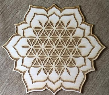 Lotus Flower of Life Crystal Gridding Boards 3
