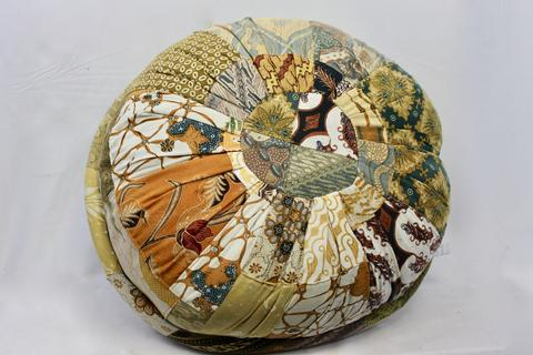 Bali Patchwork Pillow 60cm recycled sarongs