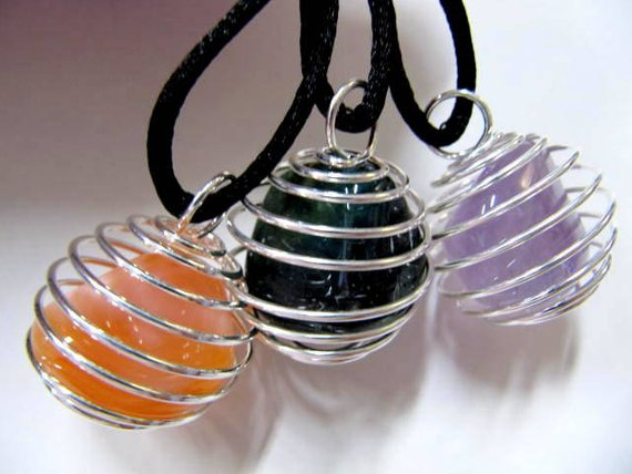 Crystal Cage Pendants for Tumbles Stones