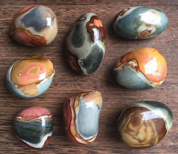 Large Polychrome Jasper Tumbled Pieces