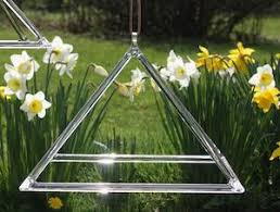 Hanging Quartz Crystal Singing Pyramids
