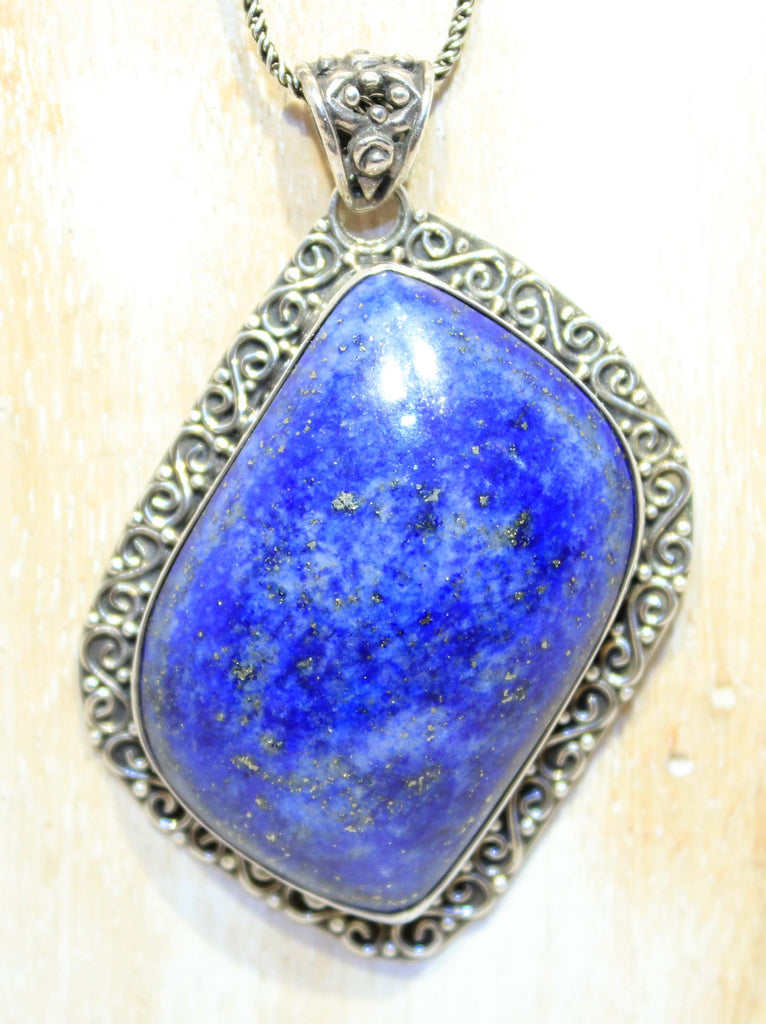 Large Sterling SIlver Lapis Pendant
