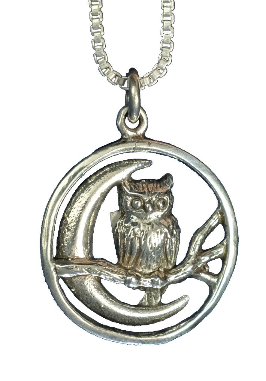 Owl on the Moon Pendant