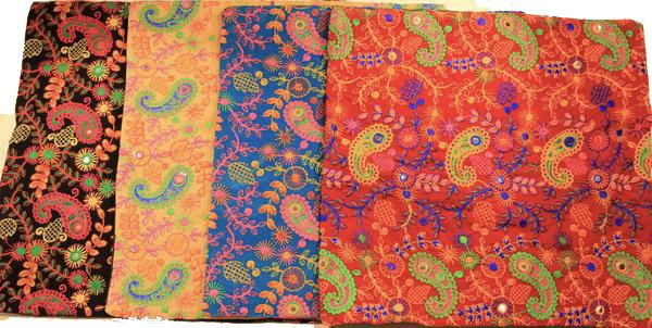 Embroidered Paisley Throw Pillow Covers