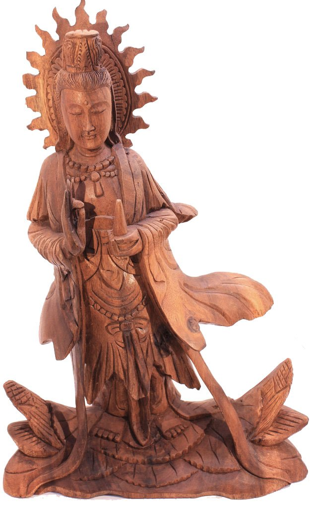 Hand Carved Quan Yin Statue