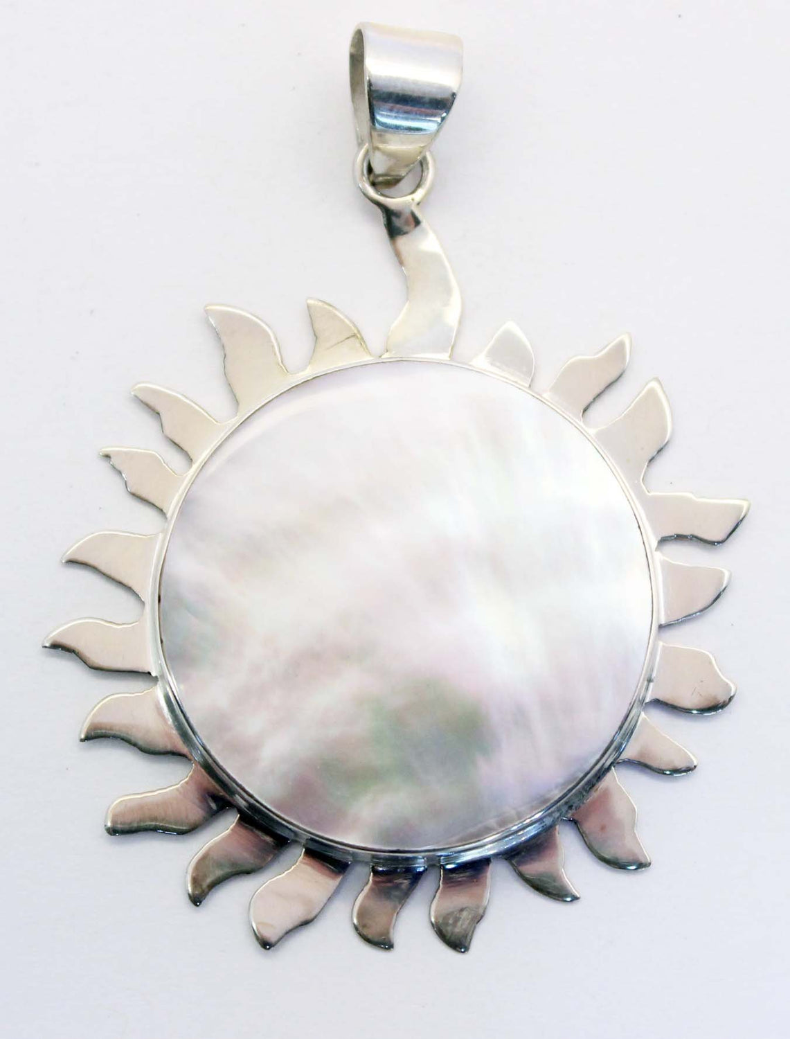 Sterling Silver Mother of Pearl Sun Pendant