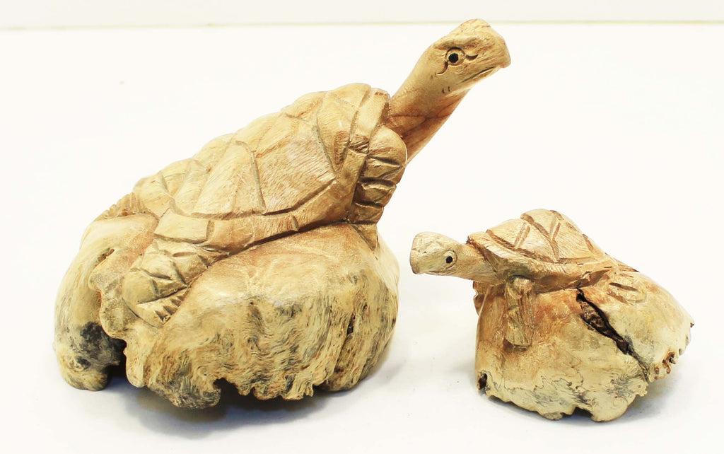 Parasite Wood Turtle Carvings
