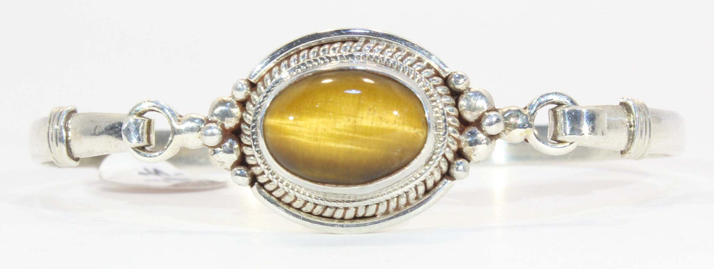 Sterling Silver Tigers Eye Cuff Bracelet