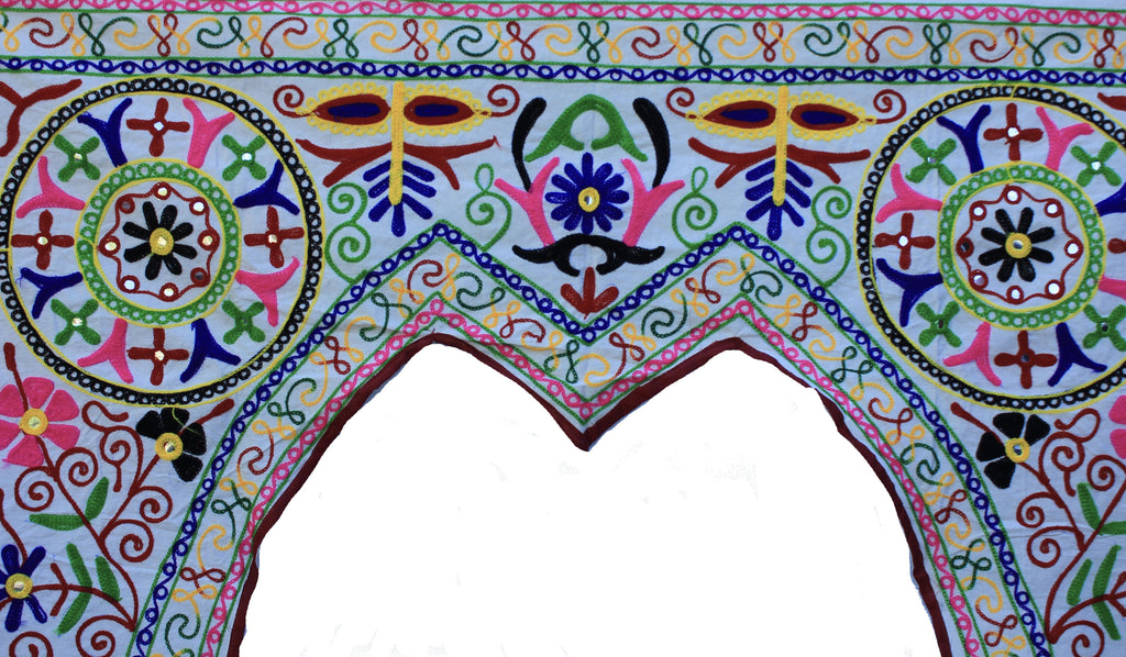 Xl Rajasthani Embroidered Toran Door or Window Hanging