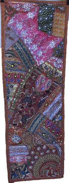 "Rajathani Patchwork Wall Hangings Heavy Embrodery Small 20"" x 58"""
