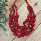 ONE OF A KIND - BIG RED POP NECKLACE