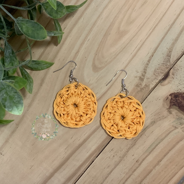 CIRCLE OF LOVE EARRINGS - MUSTARD