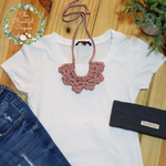 FLOR NECKLACE - RUST PINK