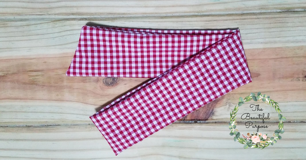 Gingham Regular Headband