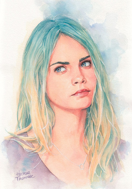 Wonderful Watercolor Portrait Illustrations by Hector