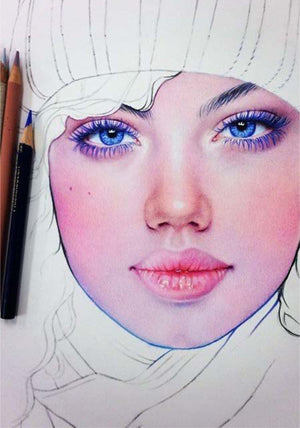 Vibrant Pencil Drawings Full With Colors