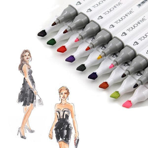 Clothing / Fashion Dual Head Design Markers - Almost Artist