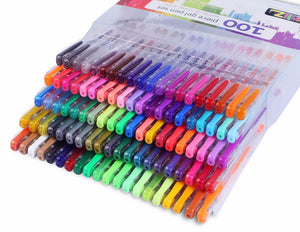 Color Art 70/100 Colors Gel Pens Set for Drawing & Adult Coloring Books - Almost Artist