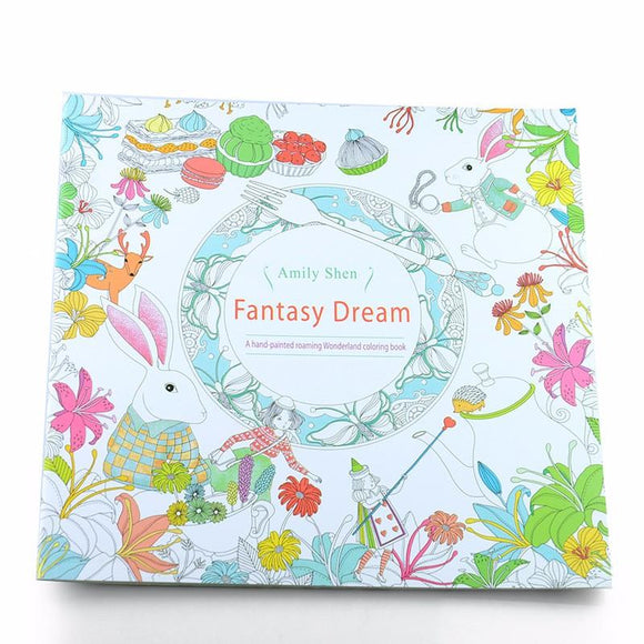 Coloring Book -  Fantasy Dreams - Almost Artist