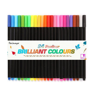 24 Color Set Fineliner Marker Pens - Almost Artist