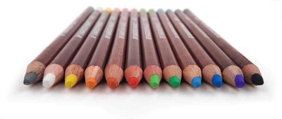 12 Professional Soft Pastel Pencils